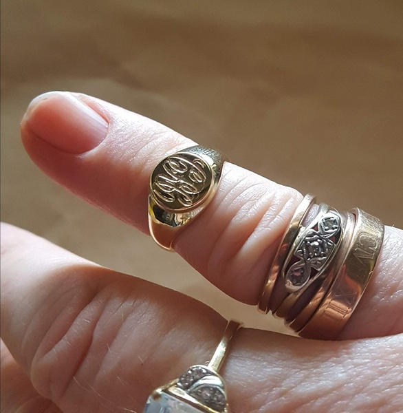 Pinky Signet Ring Sizes For Men And Women In Silver Or