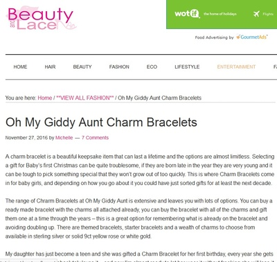 Charm Bracelets on Beauty and Lace