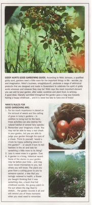 Giddy Aunt's Good Gardening Guide - with a generous dose of whimsy!