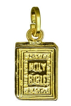 Charm - BIBLE - Sterling Silver or 9ct Gold