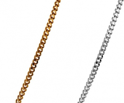 Necklace - CURB DIAMOND CUT - Sterling Silver or 9ct Gold