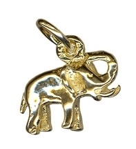 Charm - ELEPHANT TRUNK UP - Sterling Silver or 9ct Gold