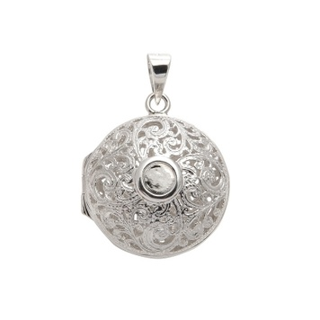 Locket - AJOURE ROUND - Sterling Silver or 9ct Gold