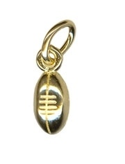 Charm - TINY FOOTBALL - Sterling Silver or 9ct Gold