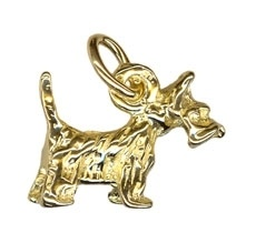 Charm - SCOTTISH DOG - Sterling Silver or 9ct Gold