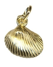 Charm - SMALL CLAM SHELL - Sterling Silver or 9ct Gold