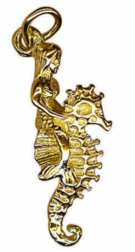 Charm - MERMAID AND SEAHORSE - Sterling Silver or 9ct Gold