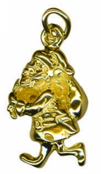 Charm - SANTA CLAUS & SACK - Sterling Silver or 9ct Gold