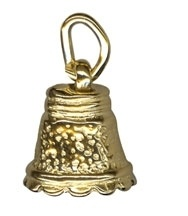 Charm - FANCY MOVING BELL - Sterling Silver or 9ct Gold