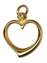 Charm - OPEN HEART - Sterling Silver or 9ct Gold