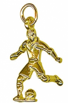 Charm - SOCCER PLAYER - Sterling Silver or 9ct Gold