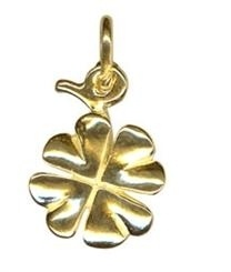 Charm - FOUR LEAF CLOVER - Sterling Silver or 9ct Gold