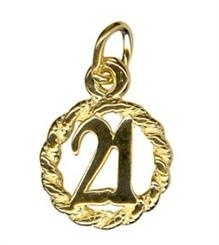 Charm - CIRCLE 21 - Sterling Silver or 9ct Gold