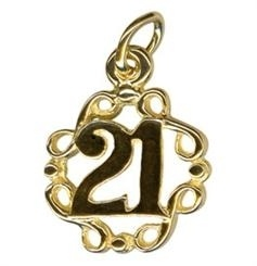 Charm - SWIRLS 21 - Sterling Silver or 9ct Gold
