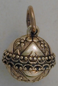 Pendant - ELABORATE BALL - Sterling Silver or 9ct Gold