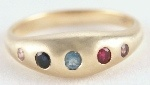 Birthstone Ring - YOURS ALWAYS - Sterling Silver or 9ct Gold