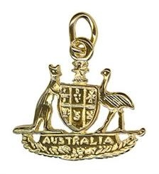 Charm - AUSTRALIAN COAT OF ARMS - Sterling Silver or 9ct Gold