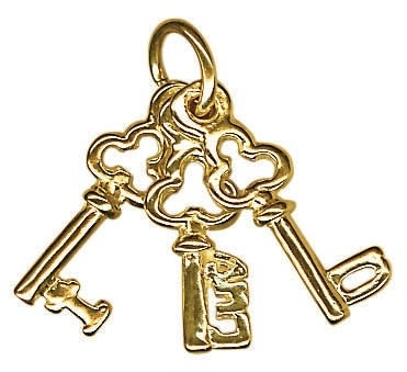 Charm - I LUV U KEYS - Sterling Silver or 9ct Gold