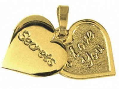 Pendant or Charm - SECRETS - Sterling Silver or 9ct Gold