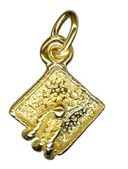 Charm - MORTAR BOARD - Sterling Silver or 9ct Gold