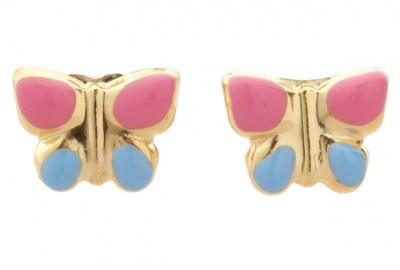 Piccolo Earrings - BUTTERFLY TINY STUDS - 9ct Gold