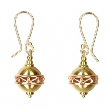 Earrings - FILIGREE SPHERES - 9ct Gold