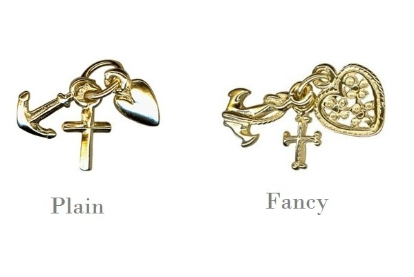 Charm - FAITH, HOPE AND CHARITY - Sterling Silver or 9ct Gold