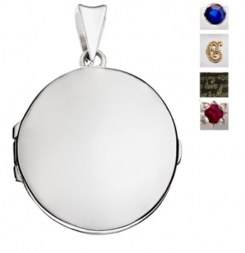 Locket - BESPOKE OVAL - Sterling Silver, 9ct or 18ct Yellow, Rose or White Gold