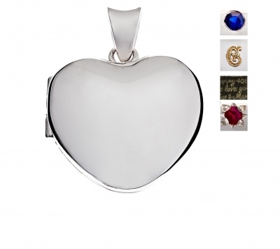 Locket - BESPOKE HEART - Sterling Silver, 9ct or 18ct Yellow, Rose or White Gold