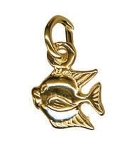 Charm - TINY FISH - Sterling Silver or 9ct Gold