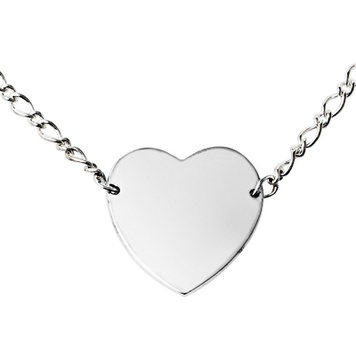 Necklace - KEEPSAKE HEART - Personalised Sterling Silver or 9ct Gold