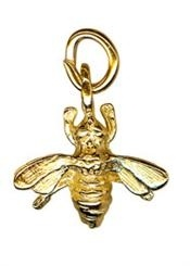 Charm - SMALL BEE - Sterling Silver or 9ct Gold