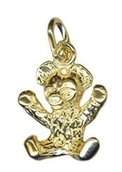Charm - SITTING TEDDY BEAR - Sterling Silver or 9ct Gold