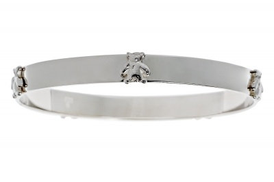Bangle - TEDDY BEAR PICNIC - Sterling Silver or Gold