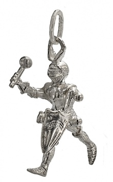 Pendant - KNIGHT IN SHINING ARMOUR - Sterling Silver