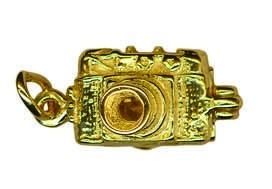 Charm - CAMERA OPENING- Sterling Silver or 9ct Gold
