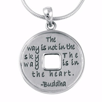 Poetic Pieces Pendant I-CHING COIN P12 - Sterling Silver