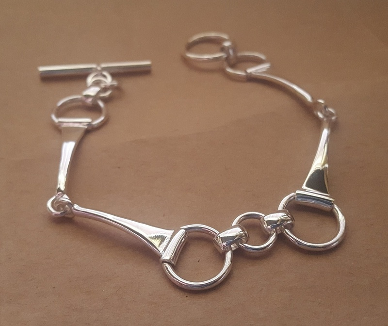 Bracelet - SNAFFLE - Sterling Silver or 9ct Gold