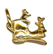 Charm - MICE IN A BOOT - Sterling Silver or 9ct Gold