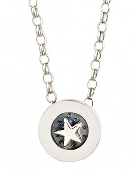 Alan Ardiff Moving Necklace - SUPER STAR - Sterling Silver