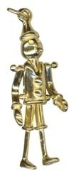 Charm - MOVING TIN MAN - Sterling Silver or 9ct Gold