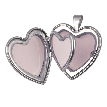 Locket - HEART FOUR PHOTOS - Sterling Silver