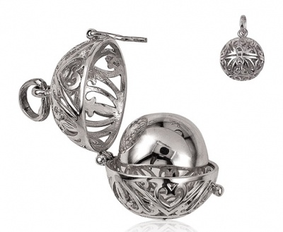 Harmony Ball - Opening - FILIGREE BALL - Sterling Silver