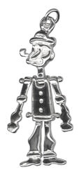 Pendant -  POPEYE - Sterling Silver or 9ct Gold