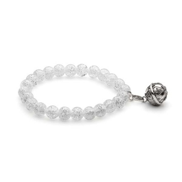Harmony Ball Bracelet - CRACKLE QUARTZ 8mm - Bella Donna Sterling Silver