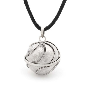 Sterling silver harmony chime ball pendant with waves design from harmony ball waves bella donna sterling silver aloadofball Images