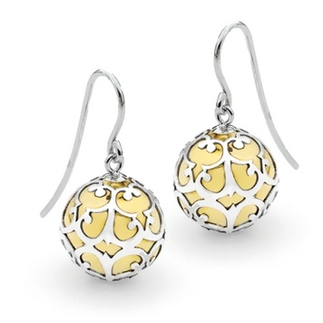 Harmony Ball Earrings - SILVER LACE - Bella Donna Sterling Silver & Brass