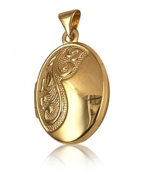 Locket - OVAL NOUVEAU - 9ct Yellow, Rose or White Gold