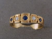 Birthstone Ring - FIVE FRAMES - Sterling Silver or 9ct Gold