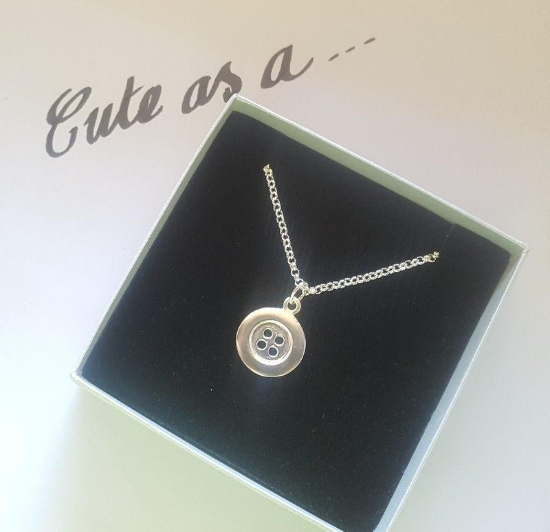 Pendant or Charm- BUTTON - Sterling silver or 9ct gold